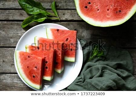 Doce suculento melancia branco comida fruto Foto stock © Artspace