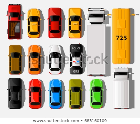modern vehicle transport top view vector icons set stock photo © robuart