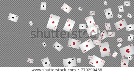 Kumarhane oynama kart cips zarlar takım elbise Stok fotoğraf © SArts