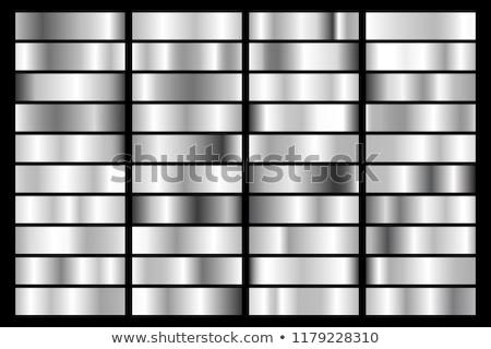 Kolekcja chrom metaliczny gradient błyskotliwy płyty Zdjęcia stock © olehsvetiukha