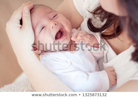 Studio portrait famille front bébé heureux Photo stock © Lopolo