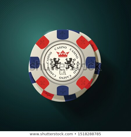 Casino gambling chips top view - casino chips with heraldics Stock photo © Winner