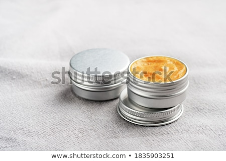 Labbro balsamo metallico isolato bianco salute Foto d'archivio © boggy