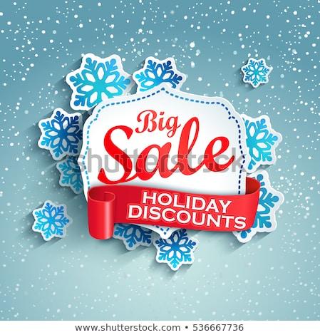 karácsony · vásár · karácsony · kalligráfia · szett · tipográfia - stock fotó © balasoiu