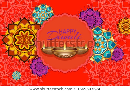 мандала счастливым Дивали фестиваля иллюстрация цветок Сток-фото © bluering