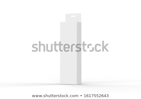 Cloth hangers with white package template 3D Stock photo © djmilic