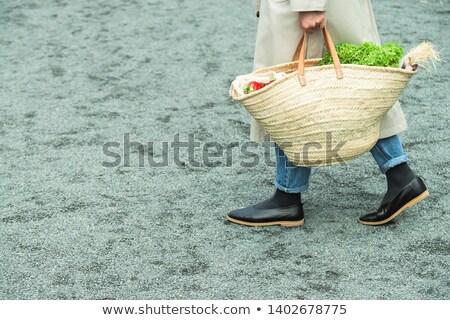 Paie pungă de cumpărături textură mână modă cumpărături Imagine de stoc © Suriyaphoto