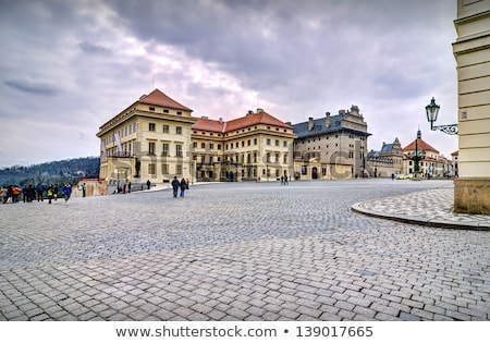 Historic square at the Hradcany in Prague Stock photo © manfredxy