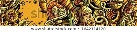 Africa mazgalitura steag desen animat detaliat Imagine de stoc © balabolka