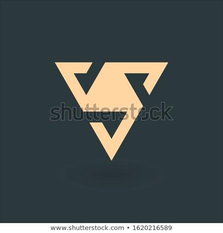 Carta delta geométrico triángulo diseño de logotipo negocios Foto stock © kyryloff