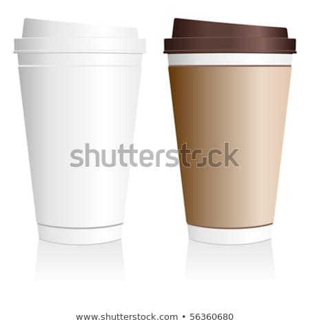 Coffee in Decorative Plastic Cup Hot Beverage Stock photo © robuart