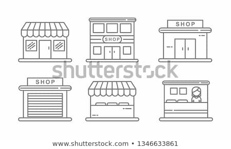 Grocery Shop Shopping Collection Icons Set Vector Stock photo © pikepicture
