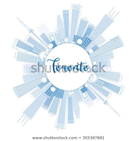 Торонто Skyline синий зданий копия пространства Сток-фото © ShustrikS