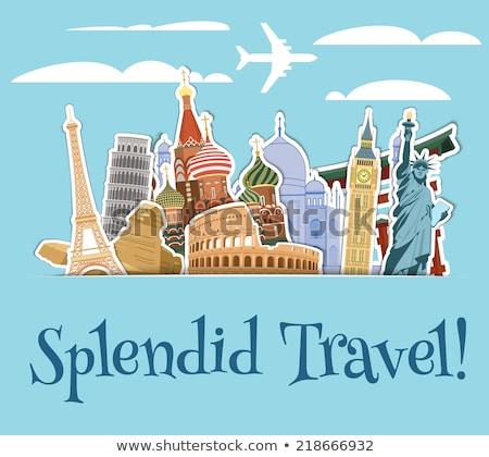 Viaje alrededor mundo famoso internacional mundo Foto stock © ShustrikS