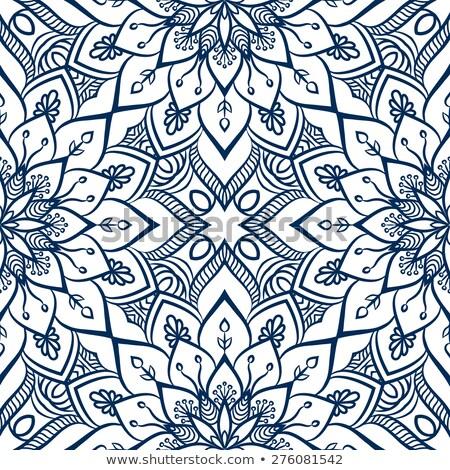 Etnische mandala patroon verschillend kleur abstract Stockfoto © kostins