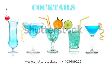 Mavi kokteyl votka likör klasik cam Stok fotoğraf © DenisMArt