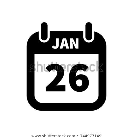 Semplice nero calendario icona 26 data Foto d'archivio © evgeny89