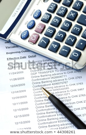 Carefully Check The Monthly Bank Account Statement Stok fotoğraf © JohnKwan