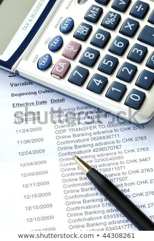 Cuidadosamente comprobar mensual banco cuenta negocios Foto stock © johnkwan