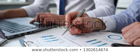 Investment Analysis Male Presenting New Plan Board Stock photo © robuart