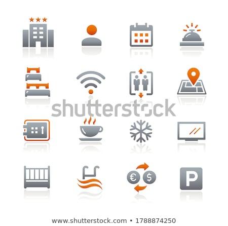 Hotel iconos grafito vector web los medios de comunicación Foto stock © Palsur