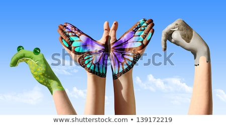 mão · animal · feminino · dedo · macaco - foto stock © iko