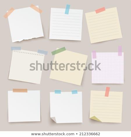 Foto stock: Vector · papel · notas · pin