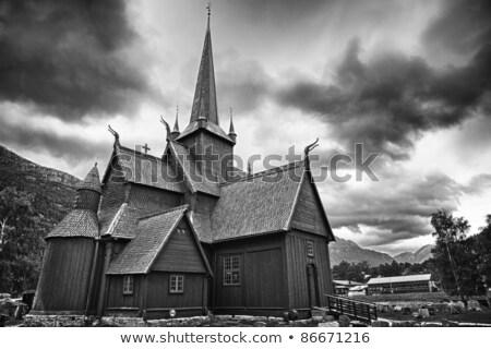 Lom Stavkirke, Norway Stock photo © phbcz