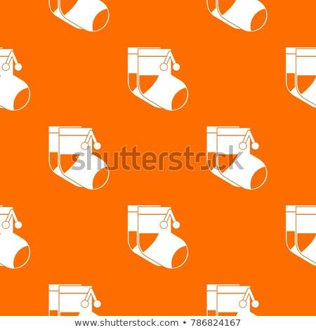 Pair baby footwear with orange insole Stock photo © RuslanOmega