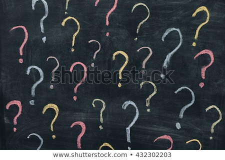 chalkboard   questions stock photo © kbuntu