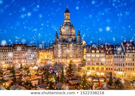 frauenkirche by night stock photo © magann