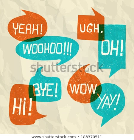 Stock photo: Vector vintage background made from speech bubbles
