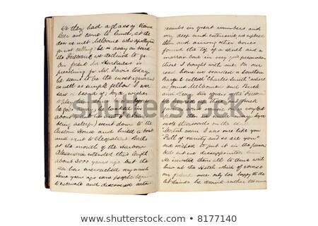 vieux · lettre · livres · correspondance · papier · texture - photo stock © fenton
