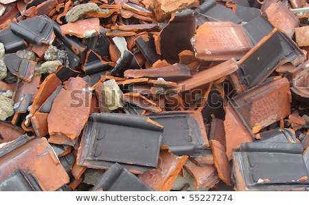 broken roof tile rubble from demolish factory Stock photo © Melvin07