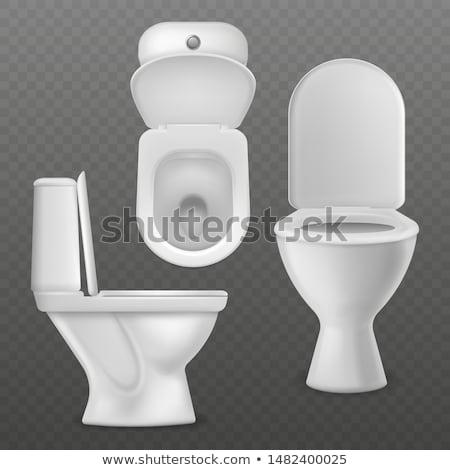Fehér mosdó serpenyő fekete háttér modern Stock fotó © 26kot