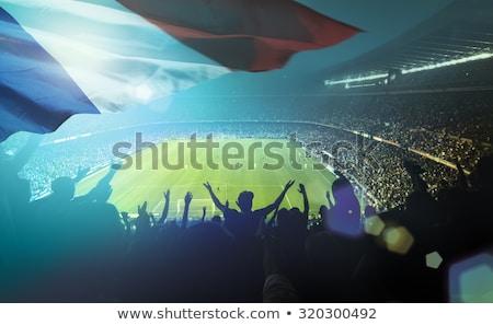 Francia futball szurkolók ünnepel nő futball Stock fotó © photography33