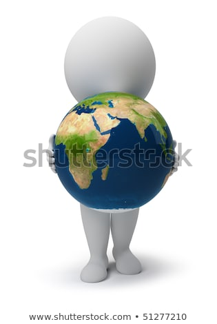 Stock photo: 3d small people - peace on the Earth
