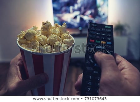 Home DVD Movie and Popcorn Stock photo © AlphaBaby