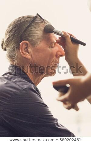 профиль · выстрел · профессиональных · человека · , · держась · за · руки · вверх - Сток-фото © hasloo