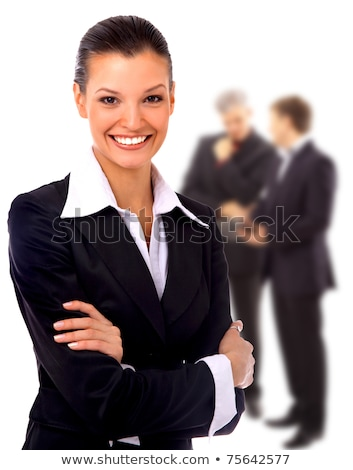 Business woman in a friendly environment of her colleagues  Stock photo © HASLOO