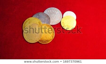 Kínai új év dekoráció dísz piros ünnepi pénz Stock fotó © azamshah72