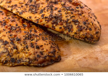 smoked peppered mackerel fillets stock photo © latent