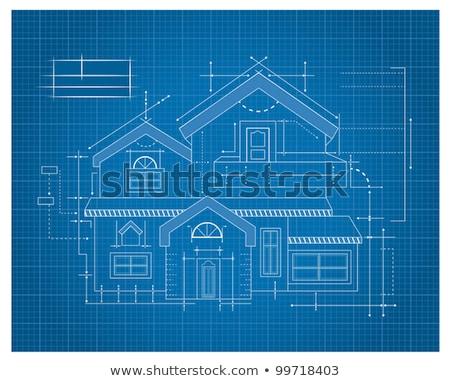 Maison blueprints résidentiel maison modèle Photo stock © cmcderm1