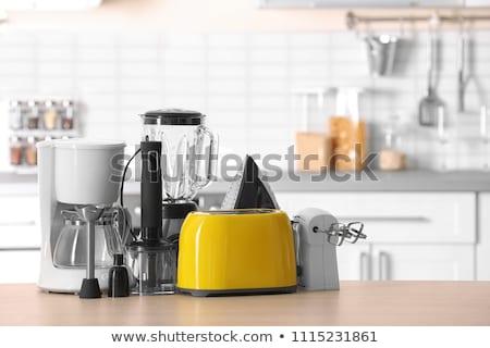 aparatos · de · cocina · blanco · cocina · azul · sombra · moderna - foto stock © jossdiim