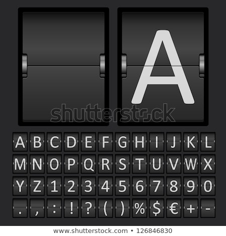 set of letters on a mechanical timetable stock photo © dvarg