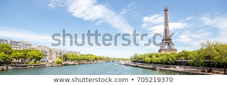 Stok fotoğraf: Panoramic View On Seine River And Eiffel Tower