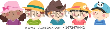 little boy wearing a straw hat Stock photo © photography33