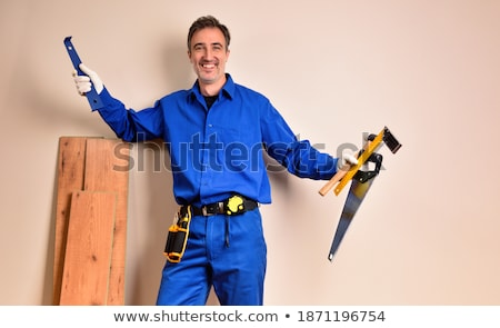 Man leaning on parquet flooring Stock photo © photography33
