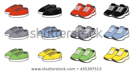 vector pair of yellow shoes stock photo © Dahlia
