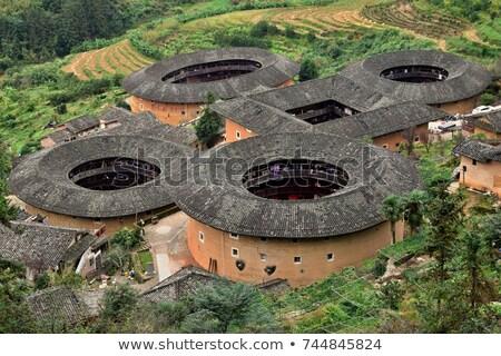 Huis China chinese landelijk familie gebouw Stockfoto © kawing921